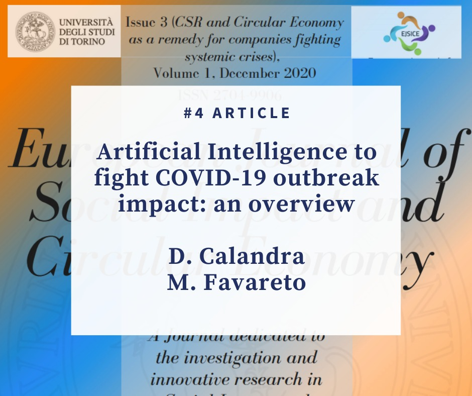 Artificial Intelligence to fight COVID-19 outbreak impact: an overview