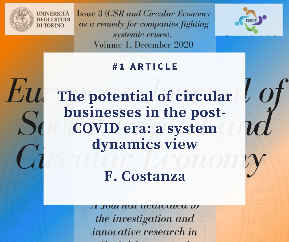 The potential of circular businesses in the post-COVID era: a system dynamics view